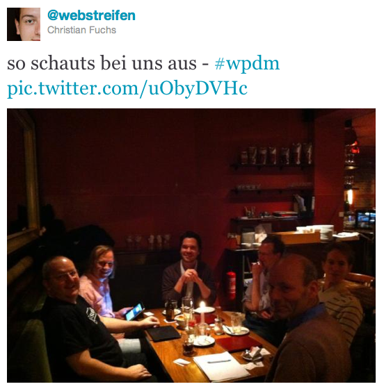 WP Meetup Potsdam, Januar 2012 (Tweet: @webstreifen)