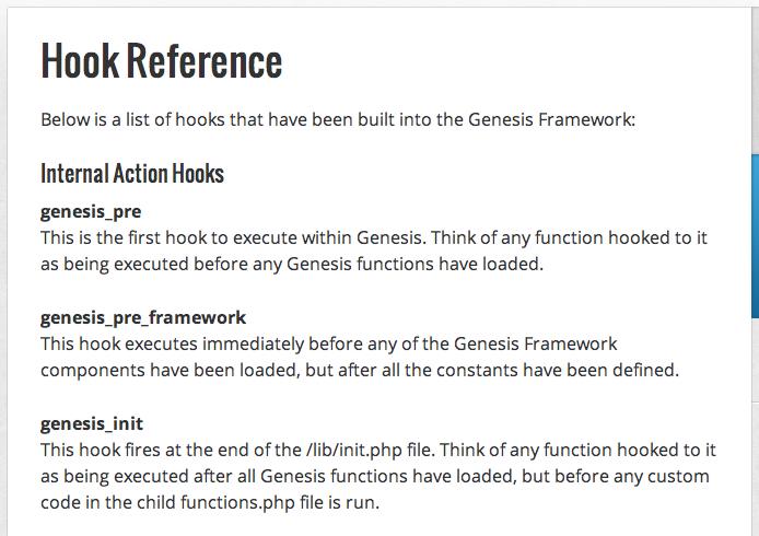 Hooks im Genesis-Theme-Framework