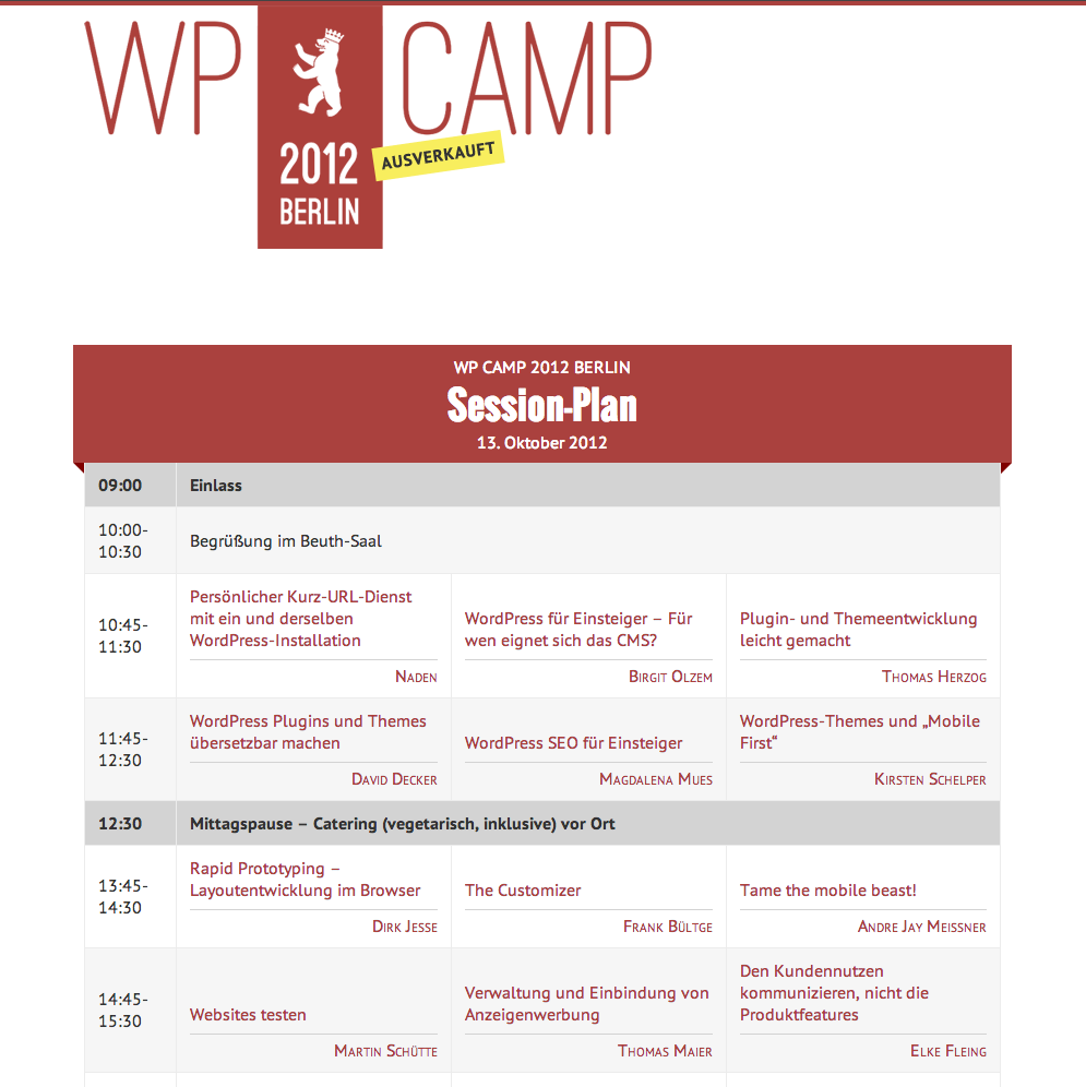 WP Camp 2012 Berlin