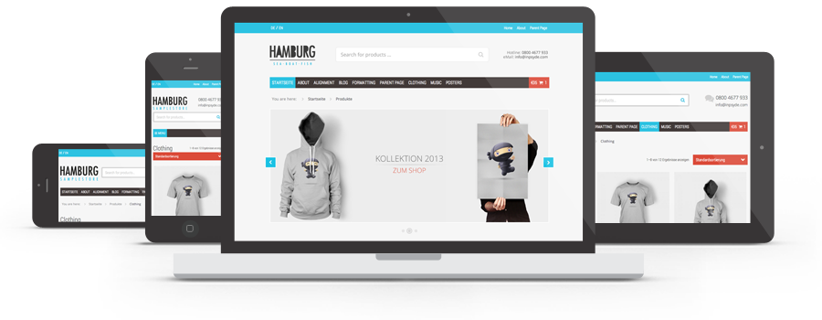 Responsives WordPress Theme Hamburg