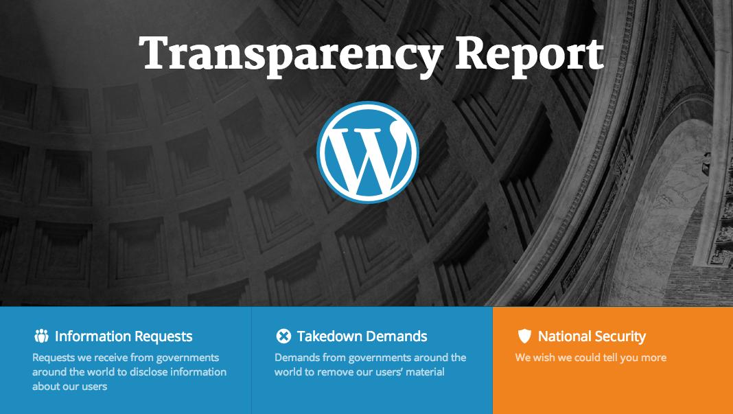 Automattic Transparency Report Website