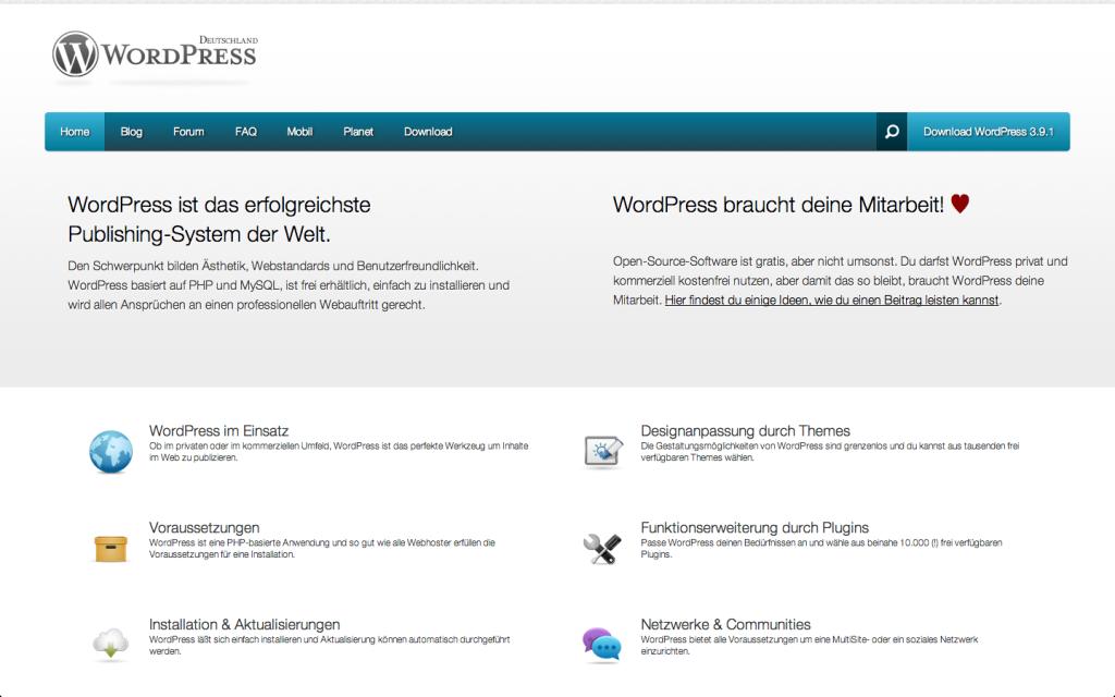 wpde.org – mögliche Startseite