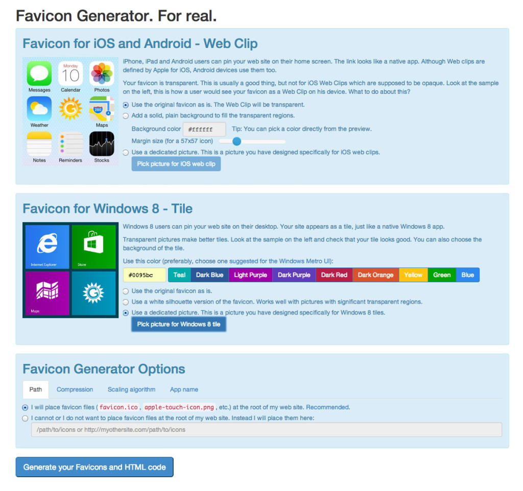 Real Favicon Generator