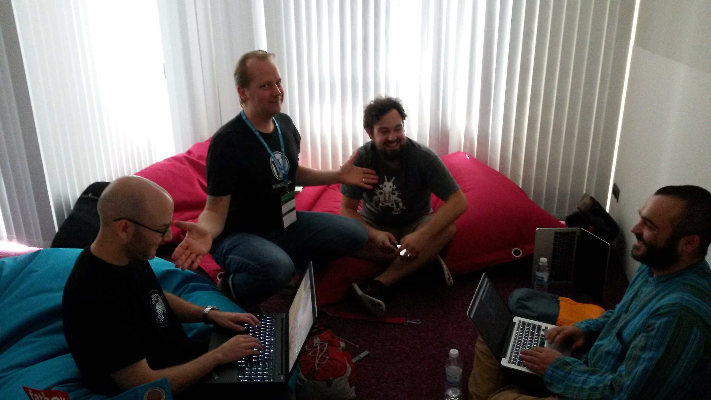 At Contributors Day WCEU Sofia with Silvan, George and Ryan