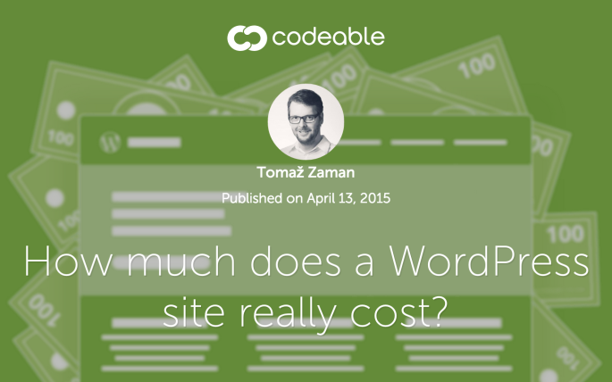 How much does a WordPress site really cost? via Tomaž Zaman