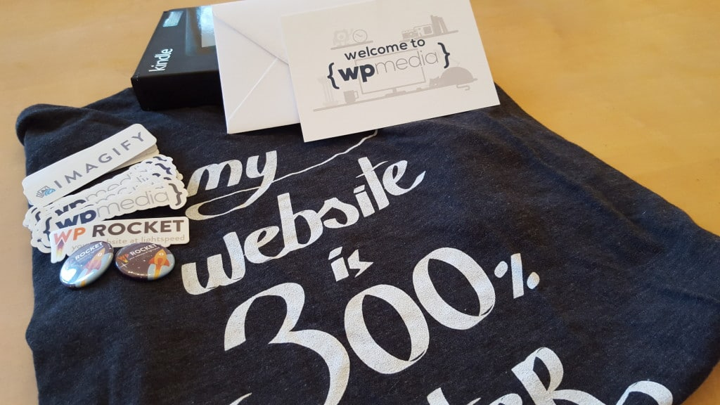 WP Media t-shirt and swag
