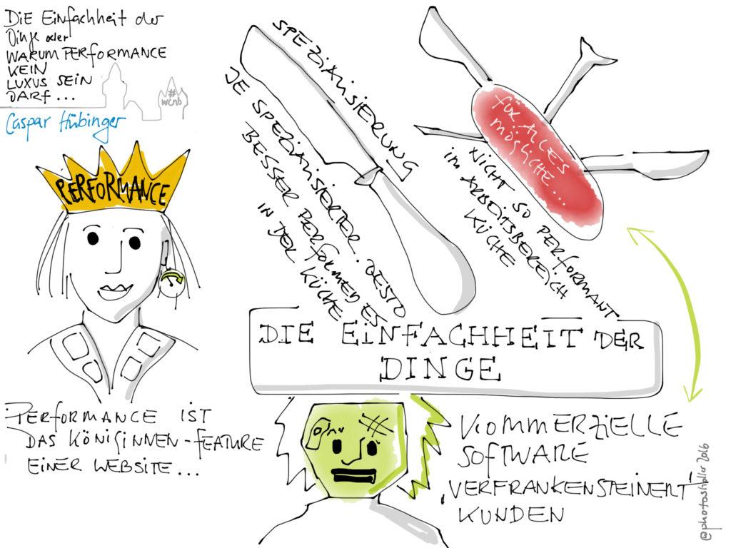 Küchenmesser vs. Taschenmesser, Königinnen-Feature vs. verfrankensteinerte Verbraucherzombie-Person