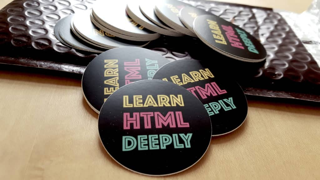 Pack of Learn HTML Deeply stickers